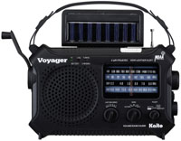 Kaito KA500 Hand Crank / Solar Powered Weather Alert Radio with Reading Lamp - BLACK