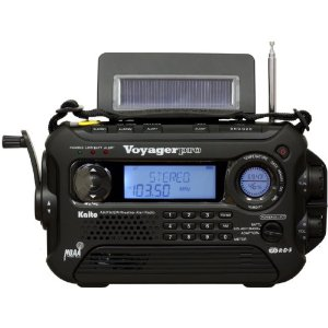Kaito Electronics KA600-BLACK KA600 Dynamo and Solar Powered AM/FM SW and NOAA Alert Radio with Digital Tuning and RDS on FM Stations - BLACK