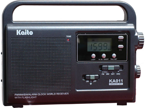 Kaito Electronics KA011 Hand Crank Solar Powered AM FM Shortwave Radio
