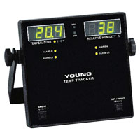 R M Young Company 46203H TEMP TRACKER - TEMPERATURE / RELATIVE HUMIDITY DISPLAY - 230V/50-60 Hz