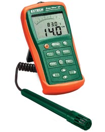 Extech EA20-NIST EasyView™ Hygro-Thermometer (NIST Certified)