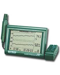 Extech RH520A-240 Humidity+Temperature Chart Recorder with Detachable Probe (240V)
