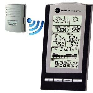 Ambient Weather WS-1173 Wireless Advanced Weather Station with Temperature, Dew Point, Barometer and Humidity, Sunrise, Sunset and Moonphase - (Discontinued)