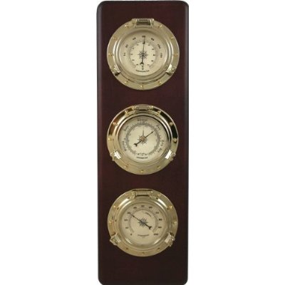 Ambient Weather Ws Gl032 Porthole Collection Weather Center With Thermometer Hygrometer Barometer Discontinued