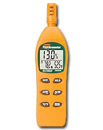 Extec RH305 Digital Hygro-Thermometer Psychrometer with Calibration Kit