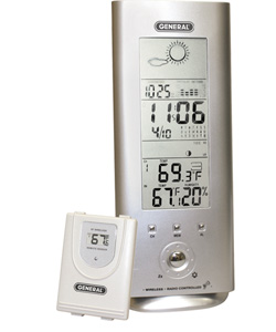 General Tools DBAR880 Deluxe Wireless Weather Station & Forecaster Temperature / Humidity / Barometer