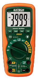 Extech EX503-NIST 10 Function Heavy Duty Industrial MultiMeter (NIST Certified)