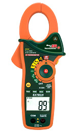 Extech EX840-NISTL 1000A AC/DC True RMS Clamp/DMM + IR Thermometer (NIST Certified)