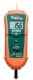 Extech RPM10-NISTL Photo/Contact Tachometer with built-in InfraRed Thermometer (NIST Certified)