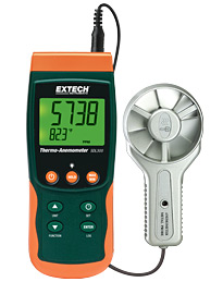 Extech SDL300-NIST Metal Vane Thermo-Anemometer/Datalogger NIST Certified (Ships in 1-2 weeks) w/ Free UPS