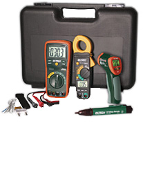 Extech TK430-IR Electrical Test Kit with IR Thermometer and Case - Industrial Troubleshooting Kit w/ FREE UPS