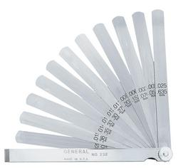 "General Tools 232 15-Leaf Economy Feeler Gage, 6"" Leaves"