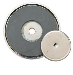 General Tools 376B 20 lb. Shallow Pot Ceramic Magnet
