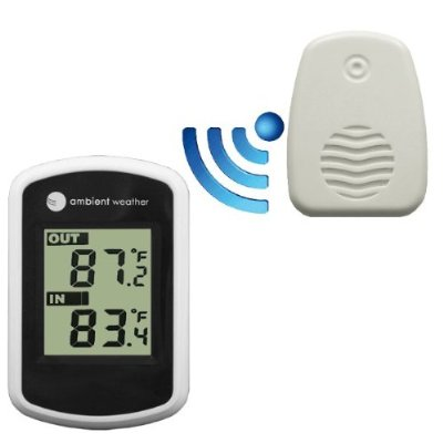 Ambient Weather WS-04 Wireless Thermometer with Indoor and