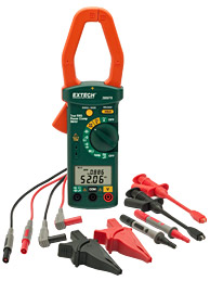 Extech 380976-K Single Phase / Three Phase 1000A AC Power Clamp Meter Kit w/ FREE UPS