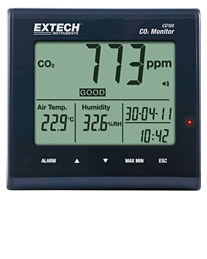 Extech Instruments CO100 Desktop Indoor Air Quality CO2 Monitor