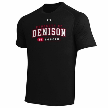 Denison Under Armour Soccer Short Sleeve Black