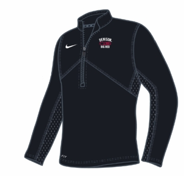 Denison Nike Dri Fit Training 1/4 Zip Black