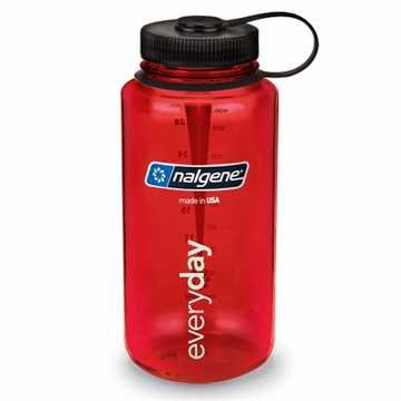 Nalgene Tritan 32oz Wide Mouth Bottle BPA Free Red
