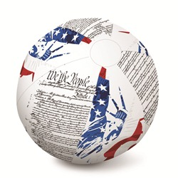 "Flag Print Beach Ball - 24"" Diameter"