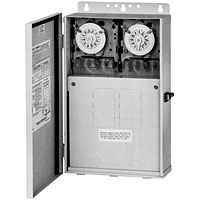 INT 220v 100 Amp Subpanel w (2) Clocks