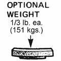 Option Set of 3  1/3 lb. Weights for SP1068 Vacuums