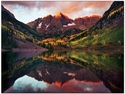 Maroon Bells at Sunrise - Note