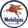 Mobilgas Round Sign