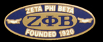 Zeta Oval Founders Pin