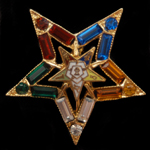OES Crystal Star Pin