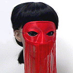 Satin Mask with Veil