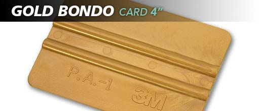 "4"" 3M GOLD BONDO CARD"