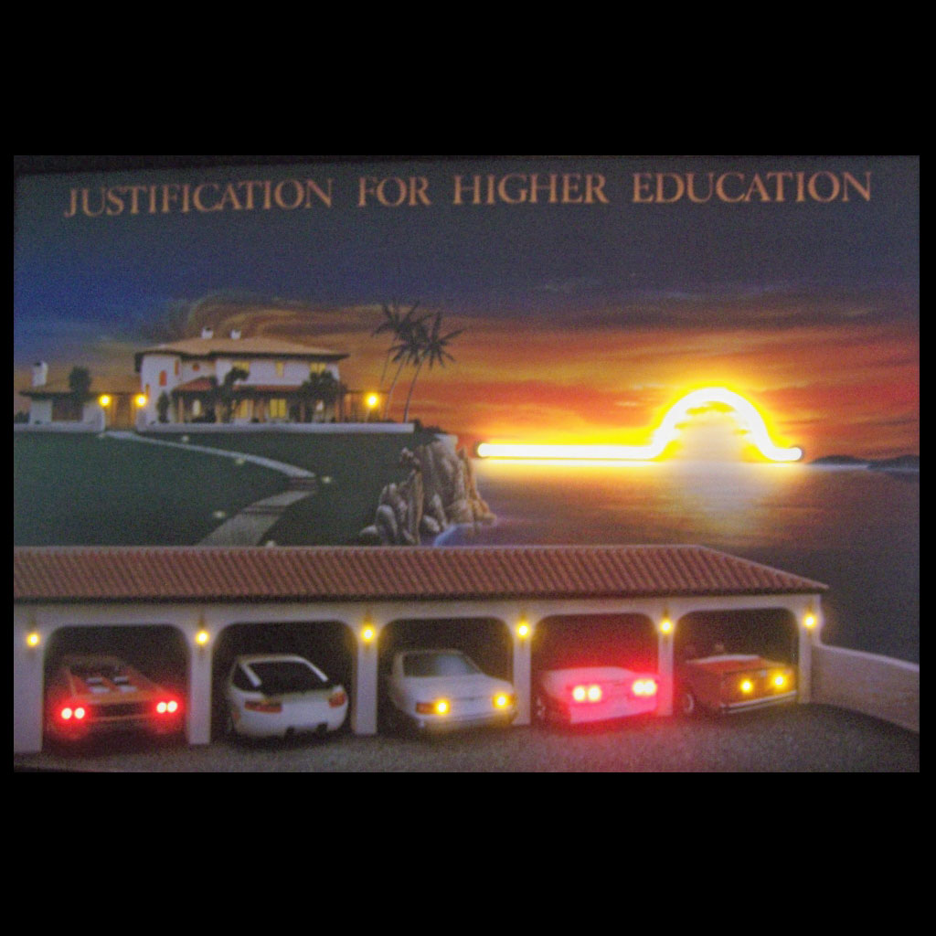JUSTIFICATION FOR HIGHER EDUCATION NEON/LED PICTURE