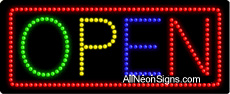 Open (Multicolor) LED Sign