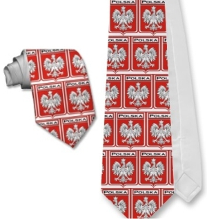 Polish / Polska Flag - Eagle Neck Tie