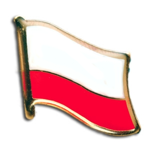 Polish Flag Lapel Pin