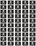 Jolly Roger Flag Stickers - Sheet of 50