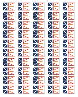 Newfoundland Flag Stickers - 50 per Sheet