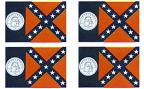 Old Georgia Flag Stickers - Sheet of 50
