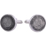 Vintage Toronto, Canada Transit Commission Cufflinks in a Genuine Sterling Silver Clad Setting