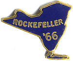 Rare, Vintage 1966, Nelson Rockefeller, New York Governor Election Campaign Lapel Pin