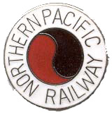 One Pair of Northern Pacific Railway Railroad Trains Cuff Links