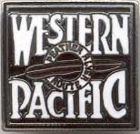 One Pair of Western Pacific Railroad Trains Cufflinks