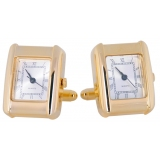 Gold, Accurate, Working Watch Cuff Links