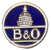 B&O Baltimore and Ohio Railroad Tie Tack ...or Wear as a Lapel Pin