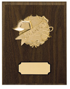 7 X 9 GOLD RELIEF PLAQUE