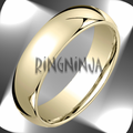 Classic Domed Gold Wedding Rings