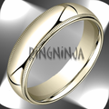 6MM Classic Domed 10K Gold Milgrain Comfit Fit Wedding Band
