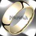 8MM Classic Domed 10K Gold Comfort Fit Ring Bride or Groom