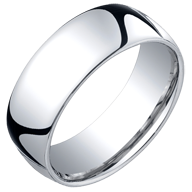 Classic Domed White Gold Rings